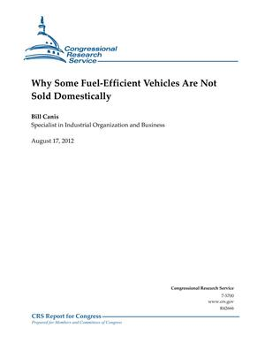 Why Some Fuel-Efficient Vehicles Are Not Sold Domestically