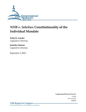 NFIB v. Sebelius: Constitutionality of the Individual Mandate