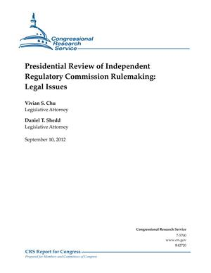 Presidential Review of Independent Regulatory Commission Rulemaking: Legal Issues