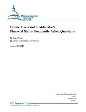 Fannie Mae's and Freddie Mac's Financial Status: Frequently Asked Questions