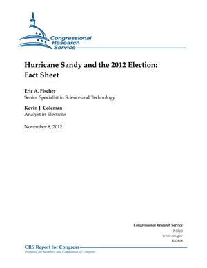 Hurricane Sandy and the 2012 Election: Fact Sheet
