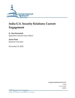 India-U.S. Security Relations: Current Engagement