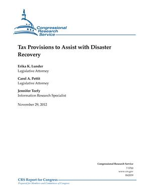 Tax Provisions to Assist with Disaster Recovery