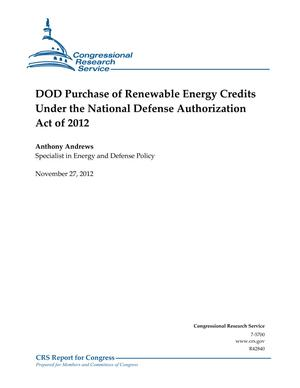 Department of Defense Purchase of Renewable Energy Credits Under the National Defense Authorization Act of 2012