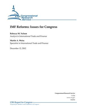 IMF Reforms: Issues for Congress