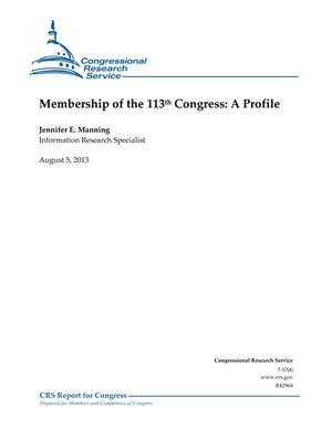 Membership of the 113th Congress: A Profile