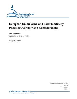 European Union Wind and Solar Electricity Policies: Overview and Considerations