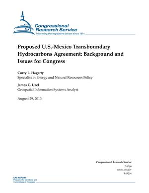 Proposed U.S.-Mexico Transboundary Hydrocarbons Agreement: Background and Issues for Congress