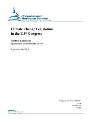 Climate Change Legislation in the 113th Congress