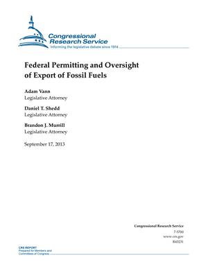 Federal Permitting and Oversight of Export of Fossil Fuels