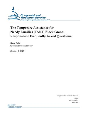 The Temporary Assistance for Needy Families (TANF) Block Grant: Responses to Frequently Asked Questions