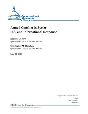 Armed Conflict in Syria: U.S. and International Response
