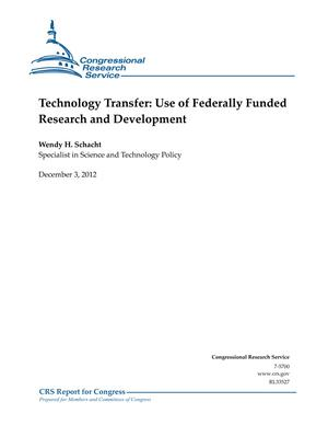 Technology Transfer: Use of Federally Funded Research and Development