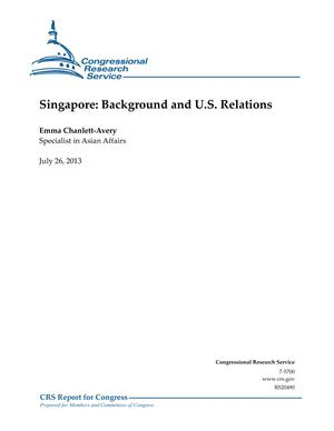 Singapore: Background and U.S. Relations