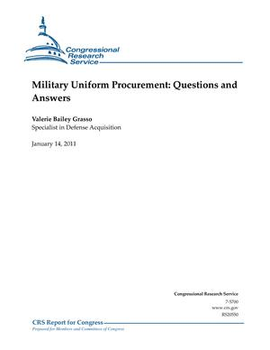 Military Uniform Procurement: Questions and Answers