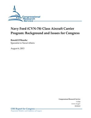 Navy Ford (CVN-78) Class Aircraft Carrier Program: Background and Issues for Congress