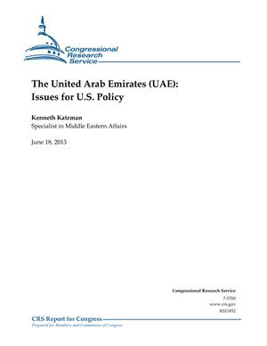 The United Arab Emirates (UAE): Issues for U.S. Policy