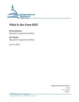 What Is the Farm Bill?