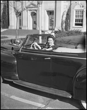 Primary view of object titled '[Helen Finnellin Driving Car]'.