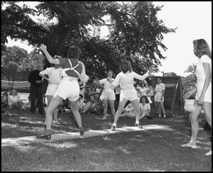 Primary view of object titled '[Women in a fencing match]'.
