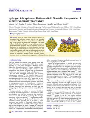 Primary view of object titled 'Hydrogen Adsorption on Platinum-Gold Bimetallic Nanoparticles: A Density Functional Theory Study'.