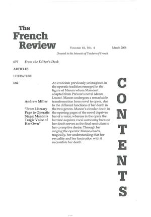 Primary view of object titled '[Review] The French Nobility in the Eighteenth Century: Reassessments and New Approaches'.