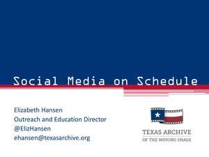Social Media on Schedule