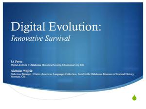 Primary view of object titled 'Digital Evolution: Innovative Survival'.