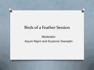 Primary view of object titled 'Birds of a Feather Session'.