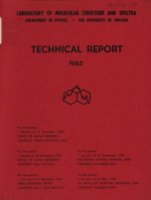 Primary view of object titled 'University of Chicago Laboratory of Molecular Structure and Spectra Technical Report: 1965'.
