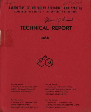 Primary view of object titled 'University of Chicago Laboratory of Molecular Structure and Spectra Technical Report: 1964'.