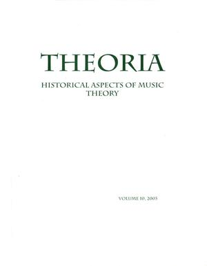 Primary view of object titled 'Theoria, Volume 10, 2003'.