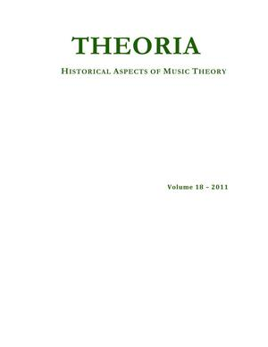 Primary view of object titled 'Theoria, Volume 18, 2011'.