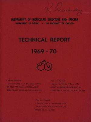 Primary view of object titled 'University of Chicago Laboratory of Molecular Structure and Spectra Technical Report: 1969-1970'.