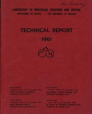 Primary view of object titled 'University of Chicago Laboratory of Molecular Structure and Spectra Technical Report: 1961'.