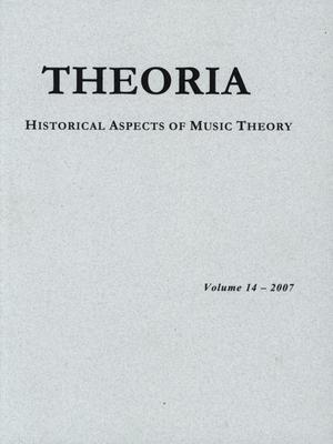 Primary view of object titled 'Theoria, Volume 14, 2007'.