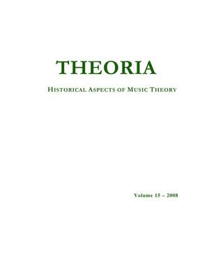 Primary view of object titled 'Theoria, Volume 15, 2008'.