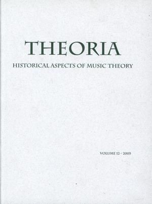 Primary view of object titled 'Theoria, Volume 12, 2005'.