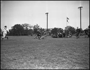Primary view of object titled '[A Play during a Football Game]'.