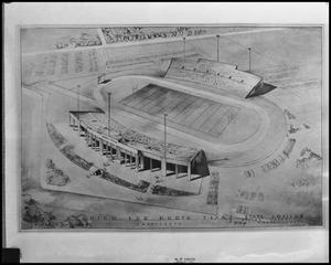 Primary view of object titled '[Architect's Rendering of Fouts Field]'.