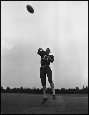 Primary view of object titled '[North Texas State University Jersey No. 17 Football Player, September 1962]'.