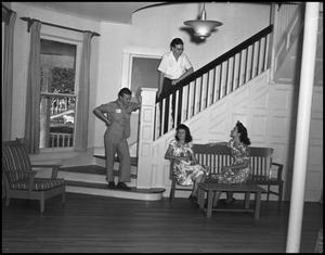 Primary view of object titled '[Students in a Fraternity House]'.