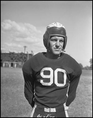 Primary view of object titled '[Jersey Number 90 Football Player]'.