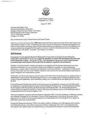 Primary view of object titled 'Executive Correspondence – Letter dtd 08/17/05 to Commissioners Coyle, Newton and Turner from NJ Senators Corzine and Lautenberg as well as NJ Representatives Holt, Pallone, Saxton, and Smith'.
