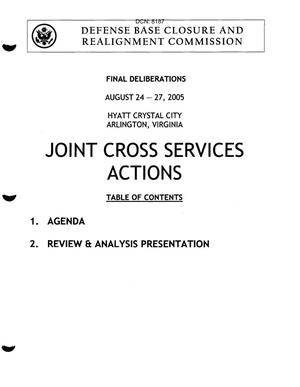 Primary view of object titled 'Joint Cross Services Book 1 Final Deliberations Hearing - August 24-27, 2005'.