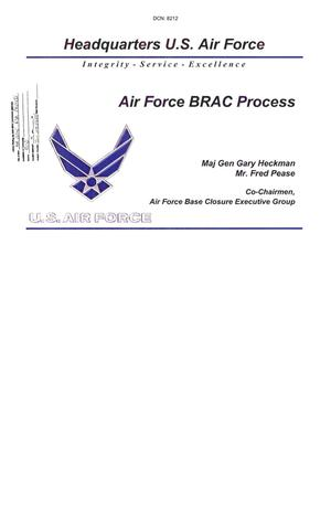 Primary view of object titled 'General - DOD Input - Air Force BRAC Process Presentation'.