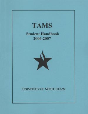 Primary view of object titled 'Texas Academy of Mathematics and Science Handbook, 2006-2007'.