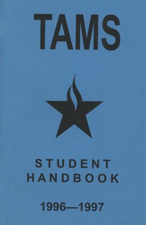 Primary view of object titled 'Texas Academy of Mathematics and Science Student Handbook, 1996-1997'.