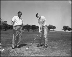 Primary view of object titled '[Two Male Golfers]'.