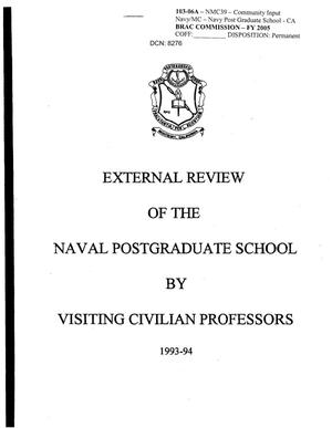 Primary view of object titled 'Community Input - External Review of the Naval Post Graduate School by Visiting Civilian Professors'.